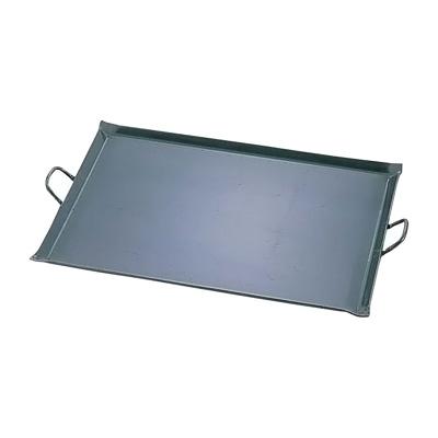 鉄 極厚プレス式 バーベキュー鉄板 小 450×360×18mm【 アドキッチン 】