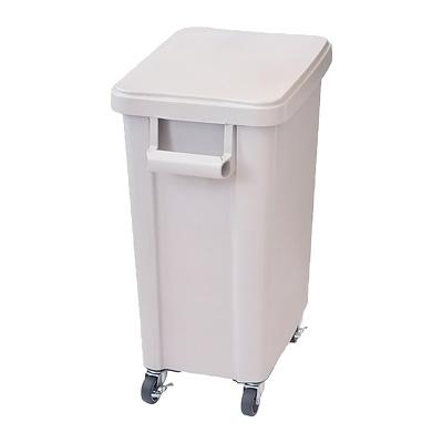 リス 厨房用キャスターペール (蓋・排水栓付) 70型 570×350×H695mm <グレー>【 アドキッチン 】
