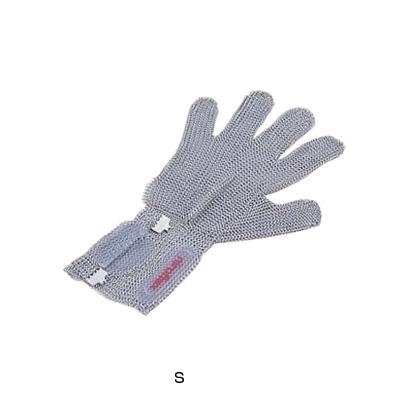 ニロフレックス 2000 ショートカフ付 メッシュ手袋 5本指(片手)(オールステンレス) C-S5-NV【 アドキッチン 】