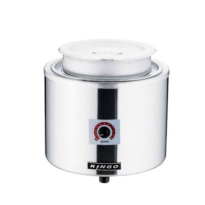 KINGO 湯煎式電気スープジャー 7L D9001 直径320×H315mm