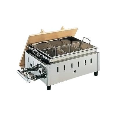18-8 湯煎式 おでん鍋 OY-15 尺5寸 LPガス【 アドキッチン 】