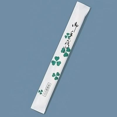 割箸 完封 クローバー楊枝入り 白樺小判 (1ケース500膳×8袋入) 20.5cm