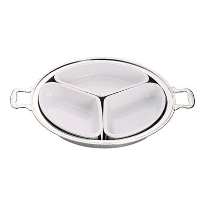 UK 18-8 ユニット丸湯煎用陶器セット 3分割 (3枚組) 20インチ用【 アドキッチン 】