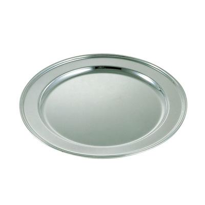 真鍮 丸肉皿(ブラスシルバー) 28インチ【 受注生産品の為 お時間を頂戴いたします 】