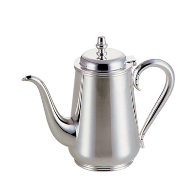 お時間を頂戴いたします 東型コーヒーポット 洋白3.8μ 受注生産品の為 5人用 】 770c.c.【