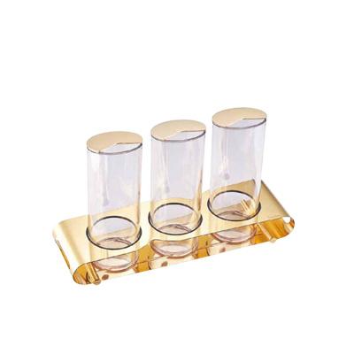 フレリック シリアル&ジュースポット 3連 ゴールド ETO-045G002 470×140×H290mm
