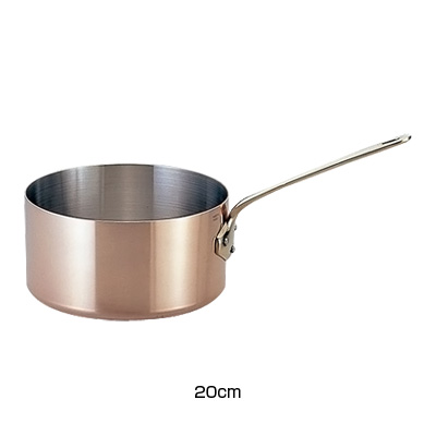 モービル カパーイノックス 片手深型鍋(蓋無)6520.20 20cm