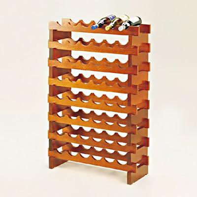ワインセラーラックシステム (セプター材チーク仕上) 6ボトル用 8段