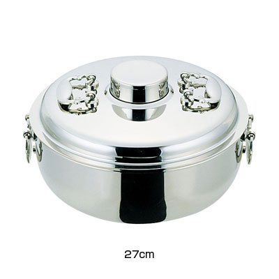 ES 18-8 電磁専用 しゃぶしゃぶ鍋 27cm【 アドキッチン 】