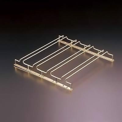 グラスフレーム ダブルエントリー 4連 24金メッキ 420×405×H45mm【 アドキッチン 】