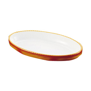 シェーンバルド オーバルグラタン皿 茶 3011-32B 306×178×H37mm