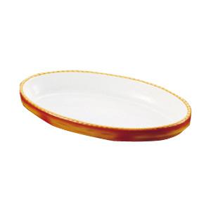 シェーンバルド オーバルグラタン皿 茶 3011-44B 428×258×H56mm