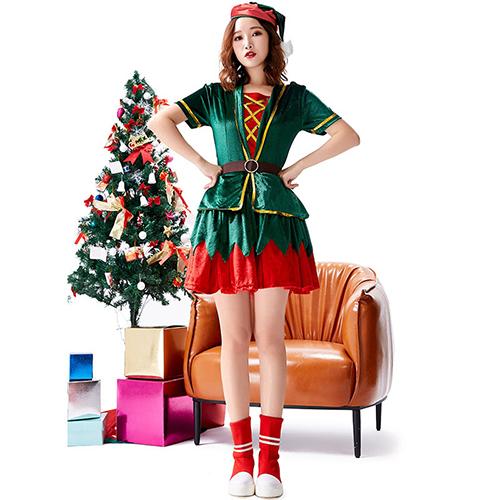 クリスマス コスプレ クリスマス衣装 上下セット スカート 70%OFFアウトレット コス パーティー コスチューム 仮装 大人用 送料無料 衣装 学園祭 大きいサイズ 文化祭 値引き 女子会 イベント 可愛い 大人 かわいい cos 忘年会 定番 舞台 レディース
