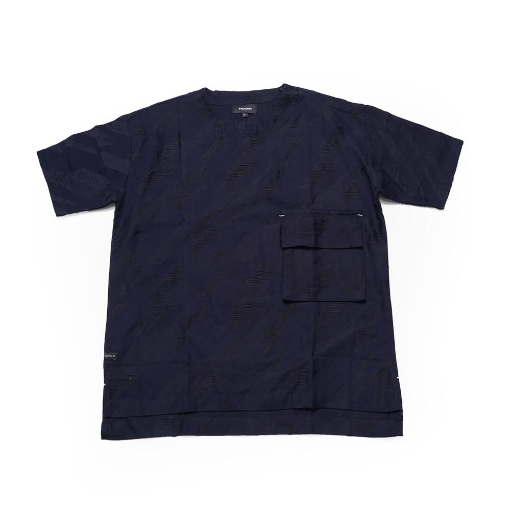 No:DST-B-2020-DB |Name:houndstooth pattern pocket Tee | Color:BLUE | 【DYCTEAM ディーワイシーチーム】【DYCTEAM】【2020SS】【MEN'S メンズ】【LADY'S レディース】【ユニセックス】【202002】