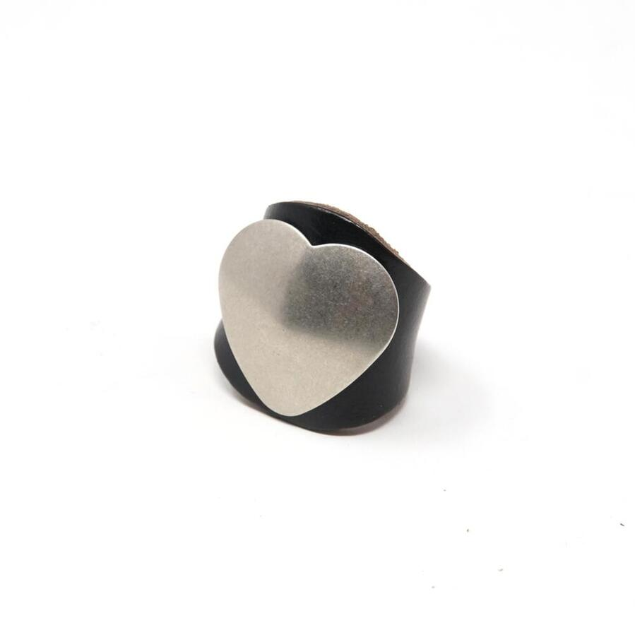 No:MG-LR02-110 Name:Leather Ring w Concho Color:Black レザーリング 日本メーカー新品 商い 2021SS 202105 ネコポス Heart YUKETEN