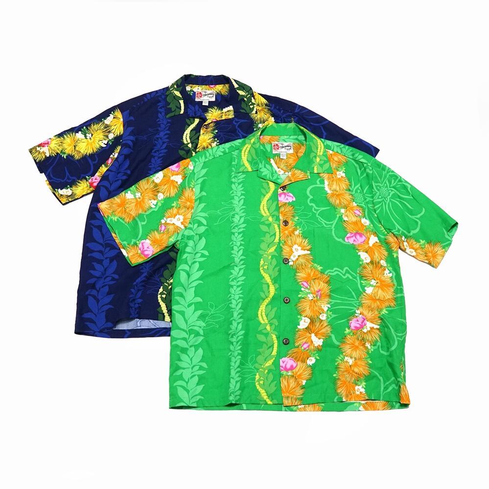 低価格 1963 年に誕生した 100% made in HAWAII のハワイアンブランド Name:Men's Aloha Shirt-Ohia Color:Green Hattie 202003 ヒロハッティ Hilo UNISEX Navy アロハシャツ アウトレットセール 特集 No:542-HASMB ユニセックス