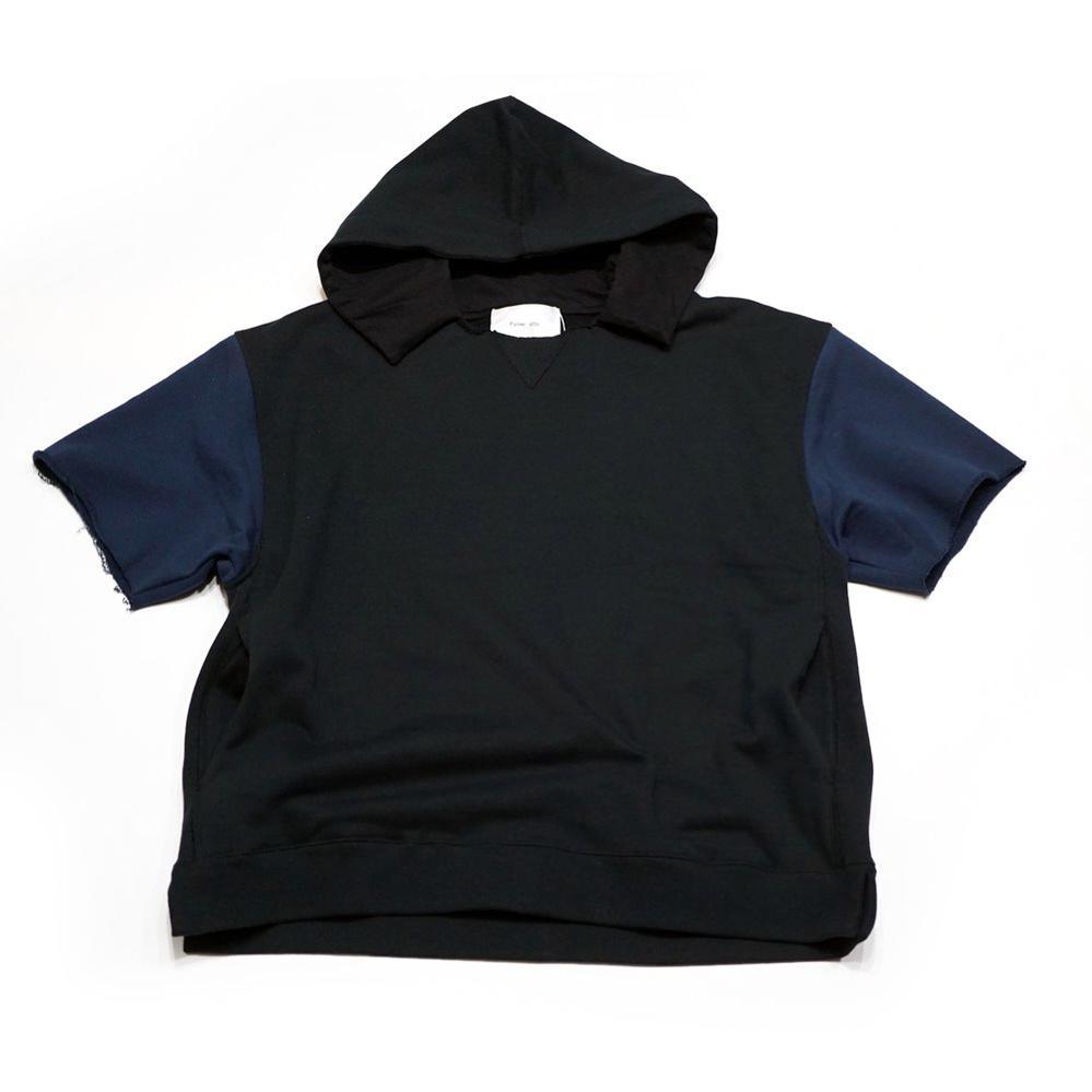 APPENDIXHOOD SWEAT COL:BLACK×NAVY 【Palme d'Or パルムドール】【MEN'S メンズ】【2017SS】【SALE】