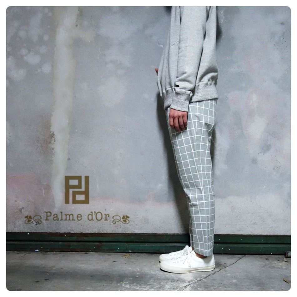 outing pants 大注目 COLOR:GRAY SIZE:S M L Palme d'Or MEN'S 最新号掲載アイテム パルムドール メンズ SS5 2016SS 201602 パンツ
