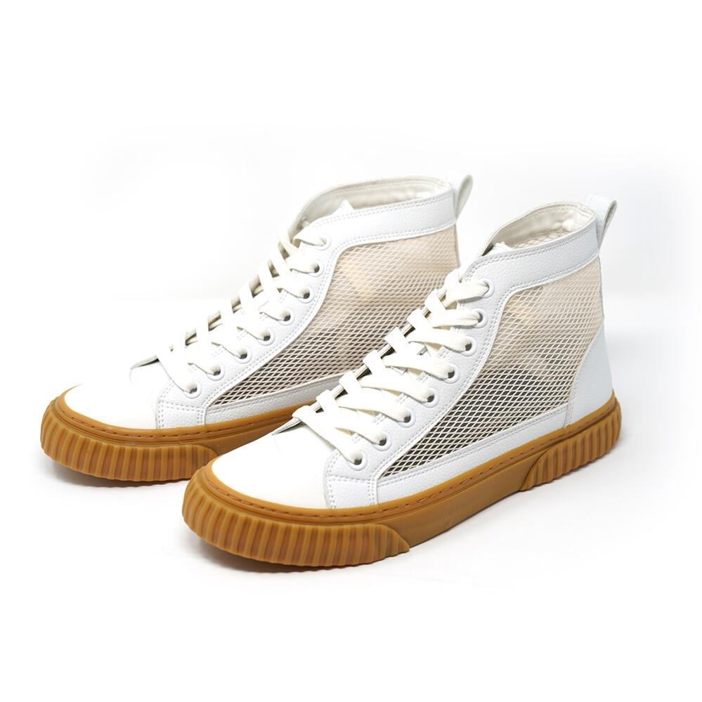 HI CUT SHOES Color:White RE:TACK 引き出物 リタック SLACK FOOTWEAR スラック 特価 フットウェア ss30 シューズ 202003 2020SS ハイカット スニーカー メッシュ