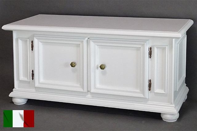 イタリア製 テレビ台 クラシックテイスト ホワイト 白家具