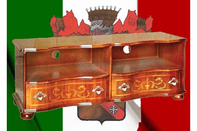 イタリア製 テレビ台 クラシックテイスト 象嵌