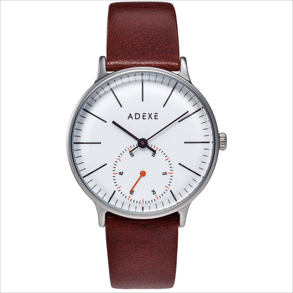 ADEXE (アデクス) 1870A-03 ユニセックス 腕時計 PETITE (プチ) 33mm シルバー ホワイト ダークブラウン ギフト インスタ映えマスト! ADEXE (アデクス)