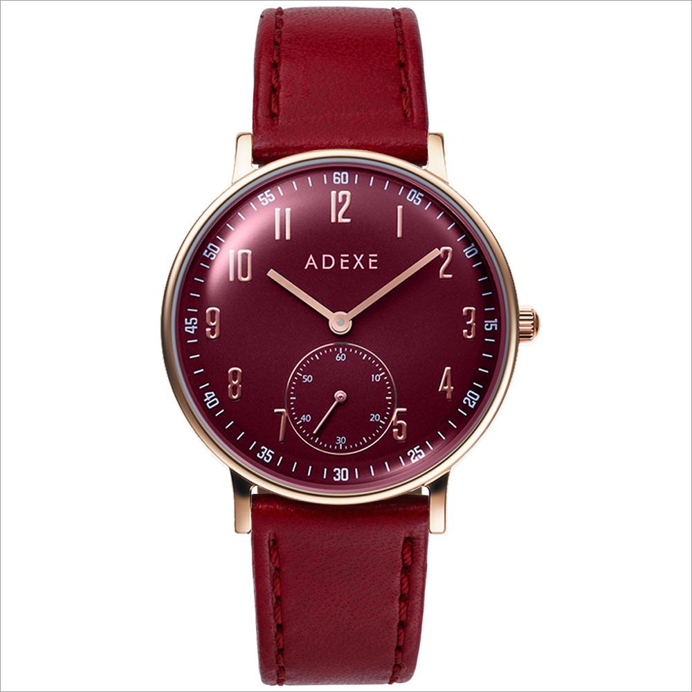 ADEXE (アデクス) 2043C-T02 ユニセックス 腕時計 PETITE (プチ) 33mm ローズゴールド レッド ギ
