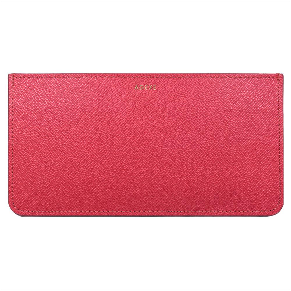 ADEXE (アデクス) G1001-CP ユニセックス レザーミニマル ウォレット wallet 財布 チェリーピンク ホワイト カーフレザー 9999 インスタ映えマスト! ADEXE (アデクス)