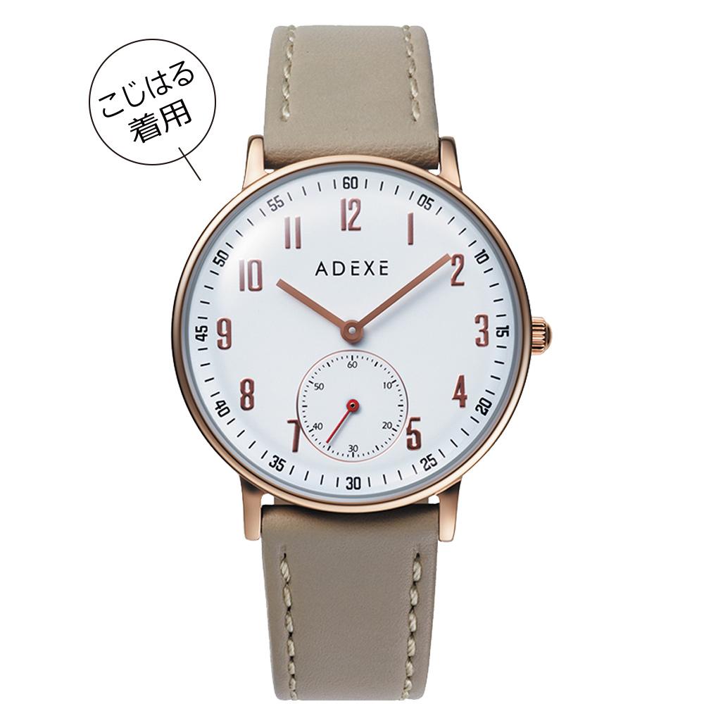 ADEXE (アデクス) 2043C-03 ユニセックス 腕時計 PETITE (プチ) 33mm ローズゴールド ライトベージュ ギフト インスタ映えマスト!sweet10月号掲載モデル ADEXE (アデクス)