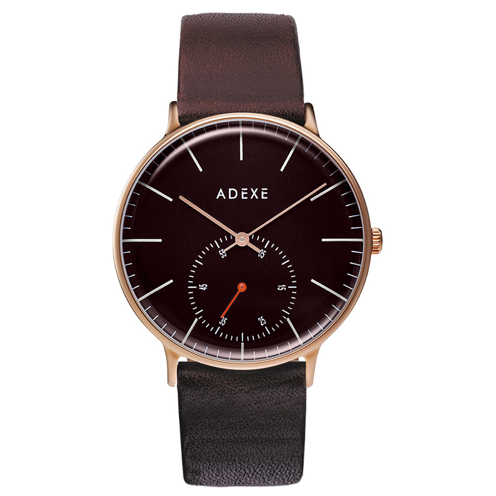 ADEXE (アデクス) 1870A-T02 ユニセックス 腕時計 PETITE (プチ) 33mm ローズゴールド ブラウン ギフト インスタ映えマスト! ADEXE (アデクス)