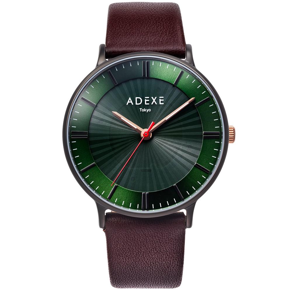 限定品 ADEXE 公式 アデクス腕時計 @市場店 アデクス 贈り物 1868I-04 ユニセックス 腕時計 ソーラー バッテリー ブラウン グランデ ギフト ブラック ダークグリーン Lightworker ライトワーカー インスタ映えマスト GRANDE 41mm