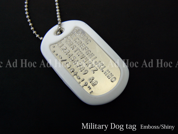 Adhoc Military Dog Tag For Camouflage Rubber Silencer