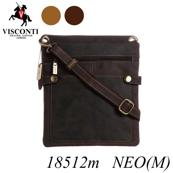 本革/シザーバッグ/レザーミディアムショルダーバッグ【VISCONTI】NEO[M]/18512m