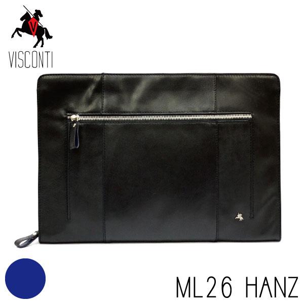 本革/A4/バッファローレザー セカンドバッグ /クラッチバッグ/メンズ/【VISCONTI】ML26 HANZブラック