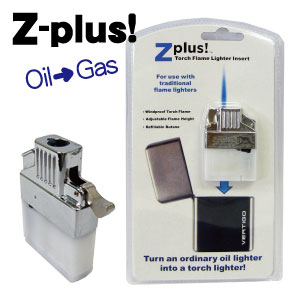 入れ替えるだけでZIPPOをBLUのようなターボライターに モデル着用 注目アイテム Z-plus 海外輸入 1 ZIPPO用ガスライターユニット メール便発送 ゼットプラス ジッポ