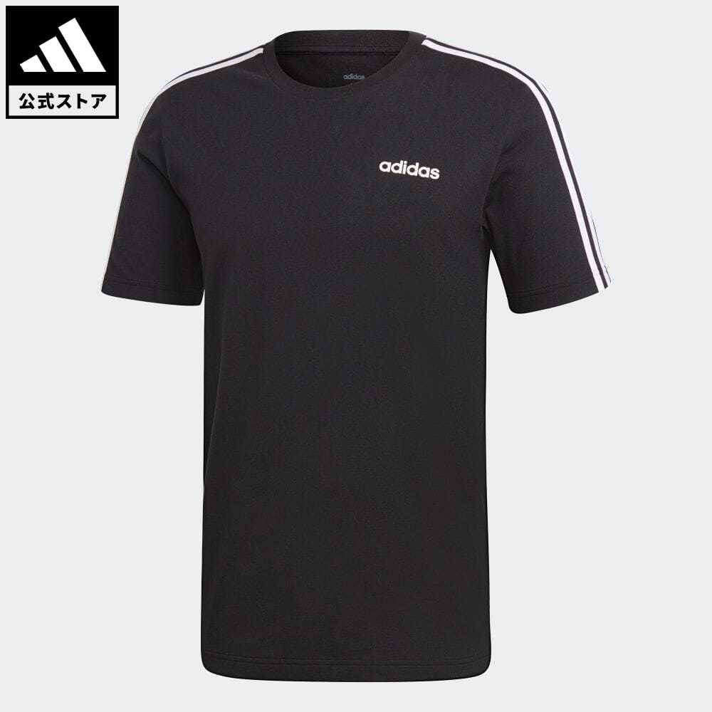 公式セール セール価格 エッセンシャルズ スリー ストライプス 【公式】アディダス adidas 返品可 M CORE 3ストライプス Tシャツ メンズ ウェア・服 トップス Tシャツ 黒 ブラック DQ3113 半袖
