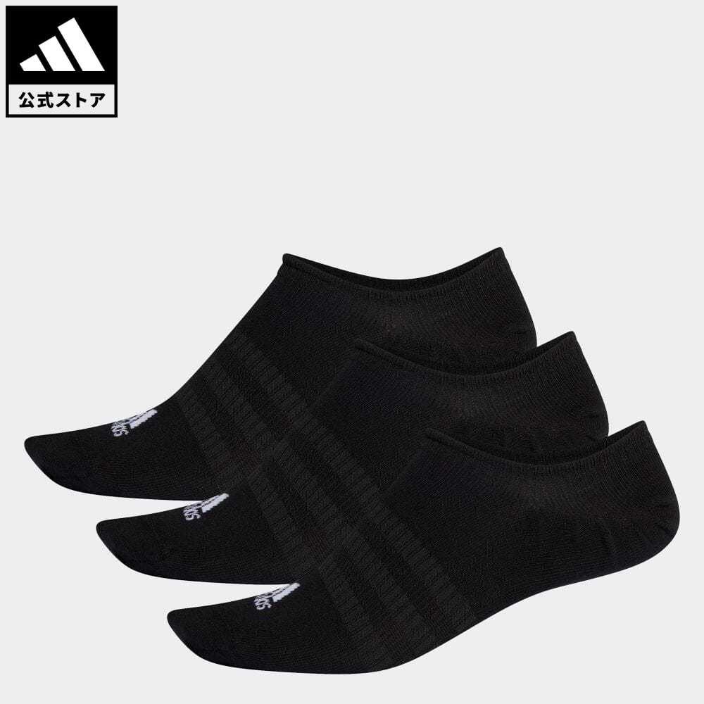 公式 アディダス adidas 返品可 ジム トレーニング 激安通販販売 ノーショー ソックス 3足組み No-Show Socks シューズインソックス Pairs DZ9416 3 メンズ 黒 定番 ブラック 靴下 レディース アクセサリー