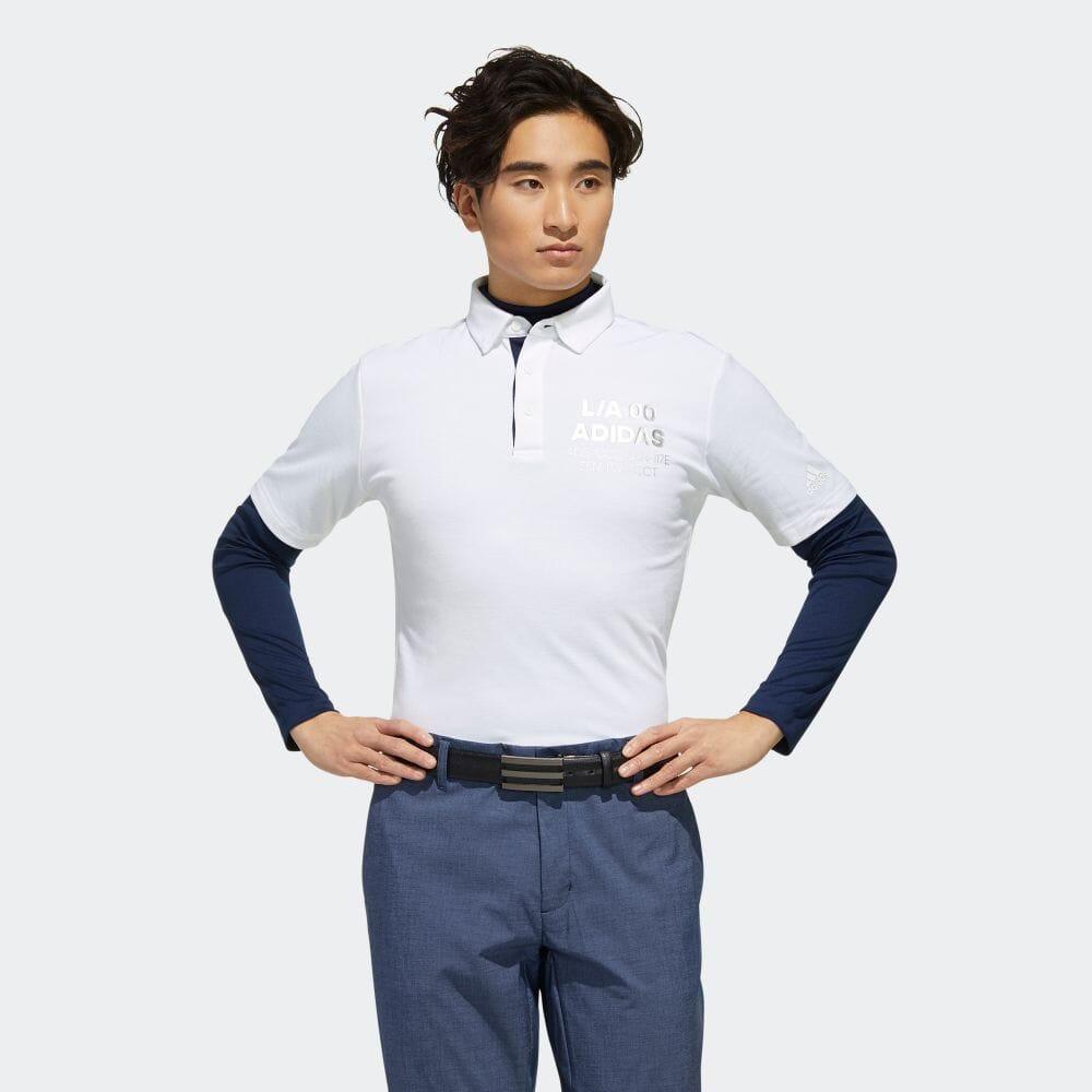 【公式】アディダス adidas 2 in 1 ポロシャツ 【ゴルフ】/ Two-in-One Polo Shirt メンズ ゴルフ ウェア トップス ポロシャツ FJ6427