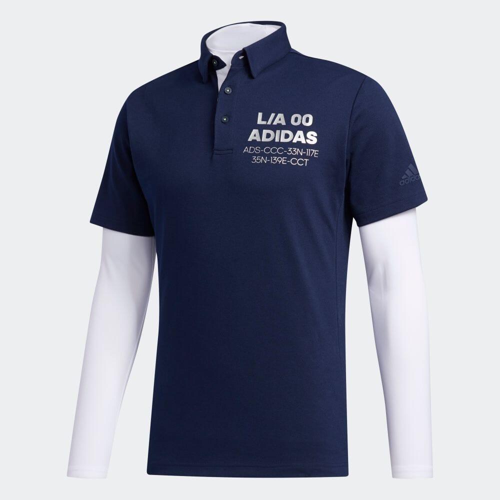【公式】アディダス adidas 2 in 1 ポロシャツ 【ゴルフ】/ Two-in-One Polo Shirt メンズ ゴルフ ウェア トップス ポロシャツ FJ6428