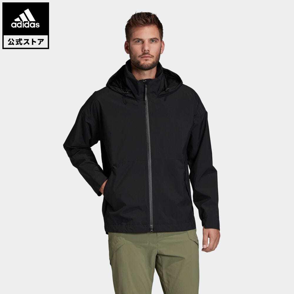 賜物 送料無料 公式セール セール価格 雨の日 公式 アディダス adidas 返品可 アウトドア アーバン RAIN. RDY ウェア 100%品質保証! 黒 ジャケット Urban FI0569 メンズ Jacket Rain レインジャケット アウター 服 ブラック