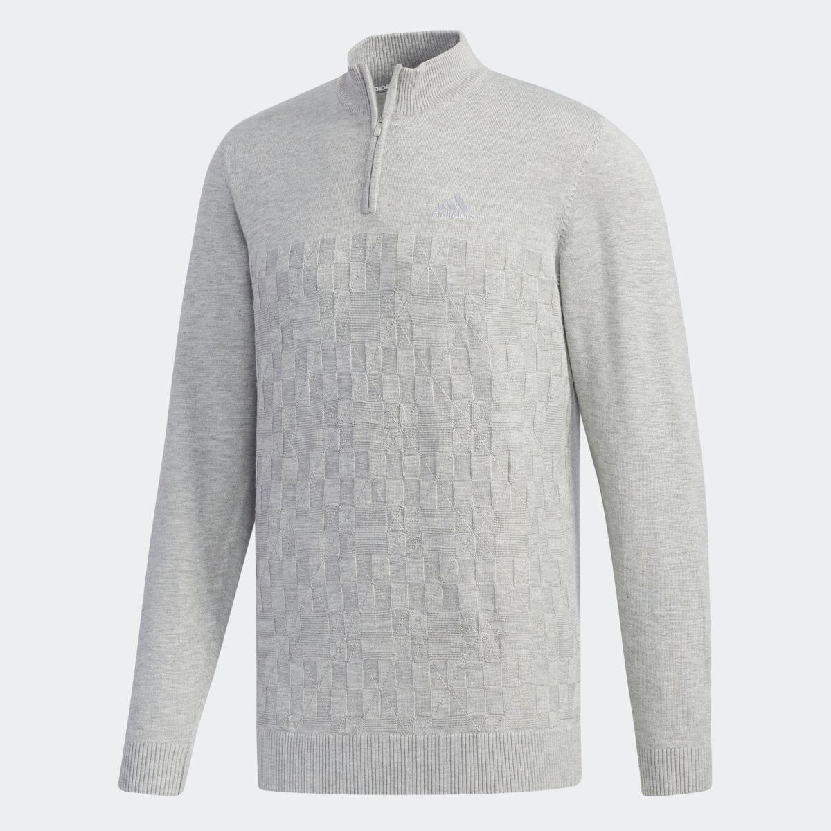 【公式】アディダス adidas ジャカードパターン L/Sジップアップセーター【ゴルフ】 メンズ ゴルフ ウェア トップス セーター EH3672