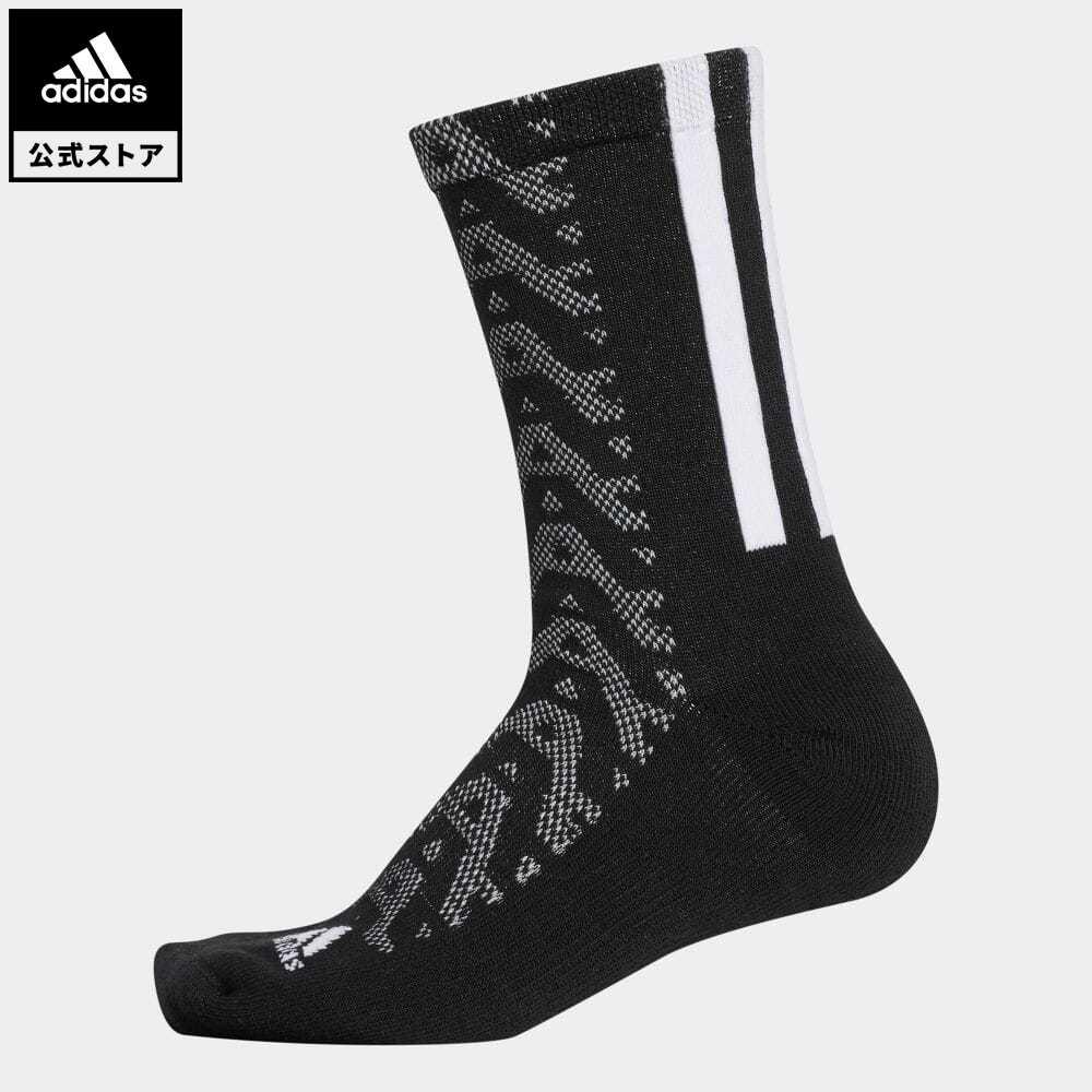 公式セール セール価格 公式 アディダス adidas 返品可 ゴルフ ウィメンズ 実物 グラフィックソックス クルー Warm GD8902 ソックス クルーソックス 靴下 全国一律送料無料 Crew 黒 Socks notp ブラック アクセサリー レディース