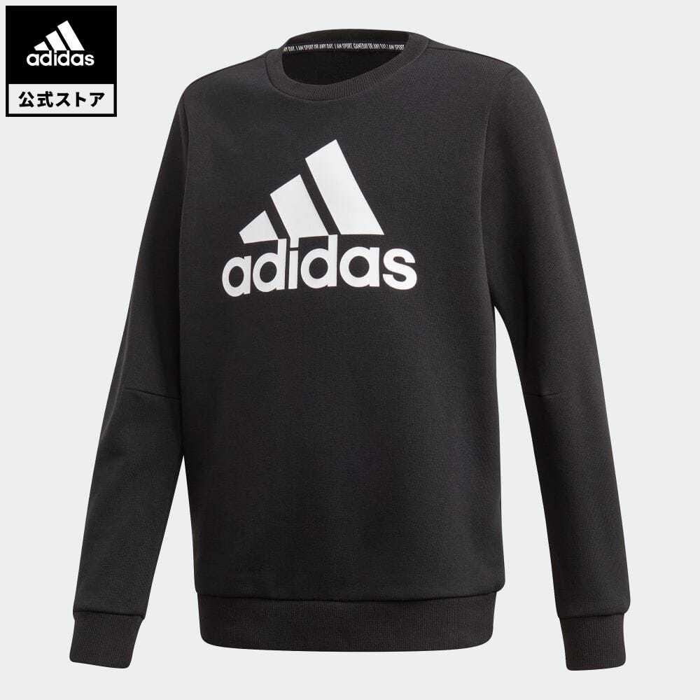 公式セール セール価格 マストハブ 【公式】アディダス adidas 返品可 マストハブ クルー スウェットシャツ / Must Haves Crew Sweatshirt キッズ ウェア・服 トップス スウェット(トレーナー) 黒 ブラック FM6448