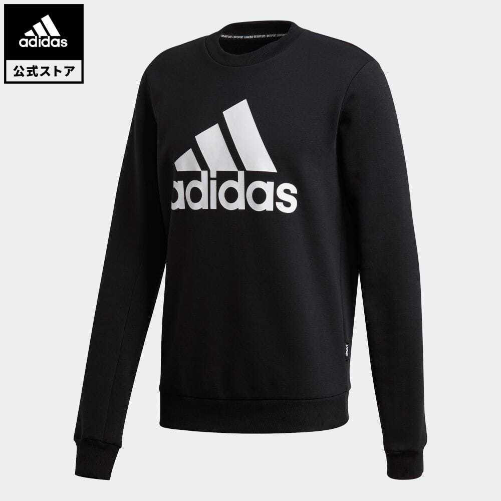 【送料無料】公式セール セール価格 エッセンシャルズ 【公式】アディダス adidas 返品可 バッジ オブ スポーツ フリース スウェットシャツ / Badge of Sport Fleece Sweatshirt メンズ ウェア・服 トップス スウェット(トレーナー) 黒 ブラック GC7336