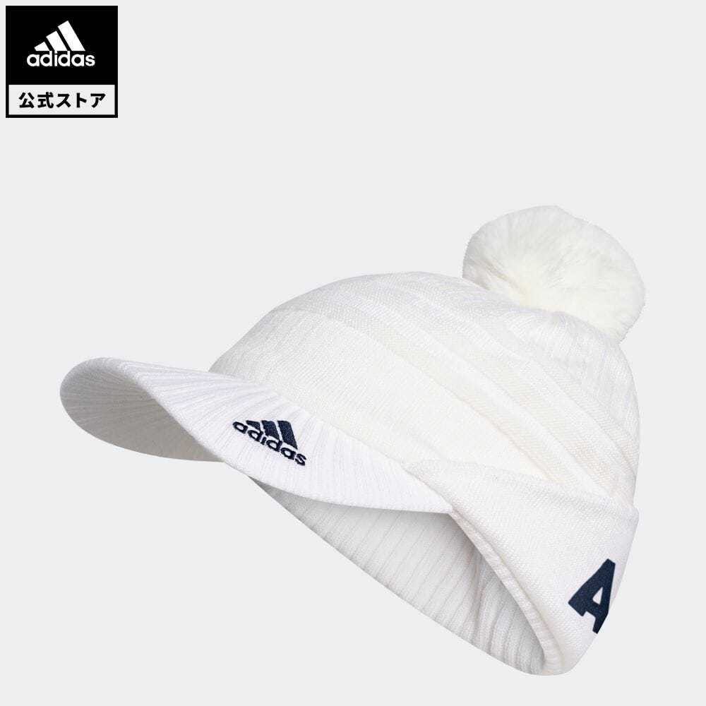 送料無料 公式 アディダス adidas 返品可 ゴルフ SEAL限定商品 ウィメンズ 今だけスーパーセール限定 バイザーニットキャップ Knit Pompom notp Cap ニット帽 ホワイト ビーニー GD8828 アクセサリー レディース 白 帽子