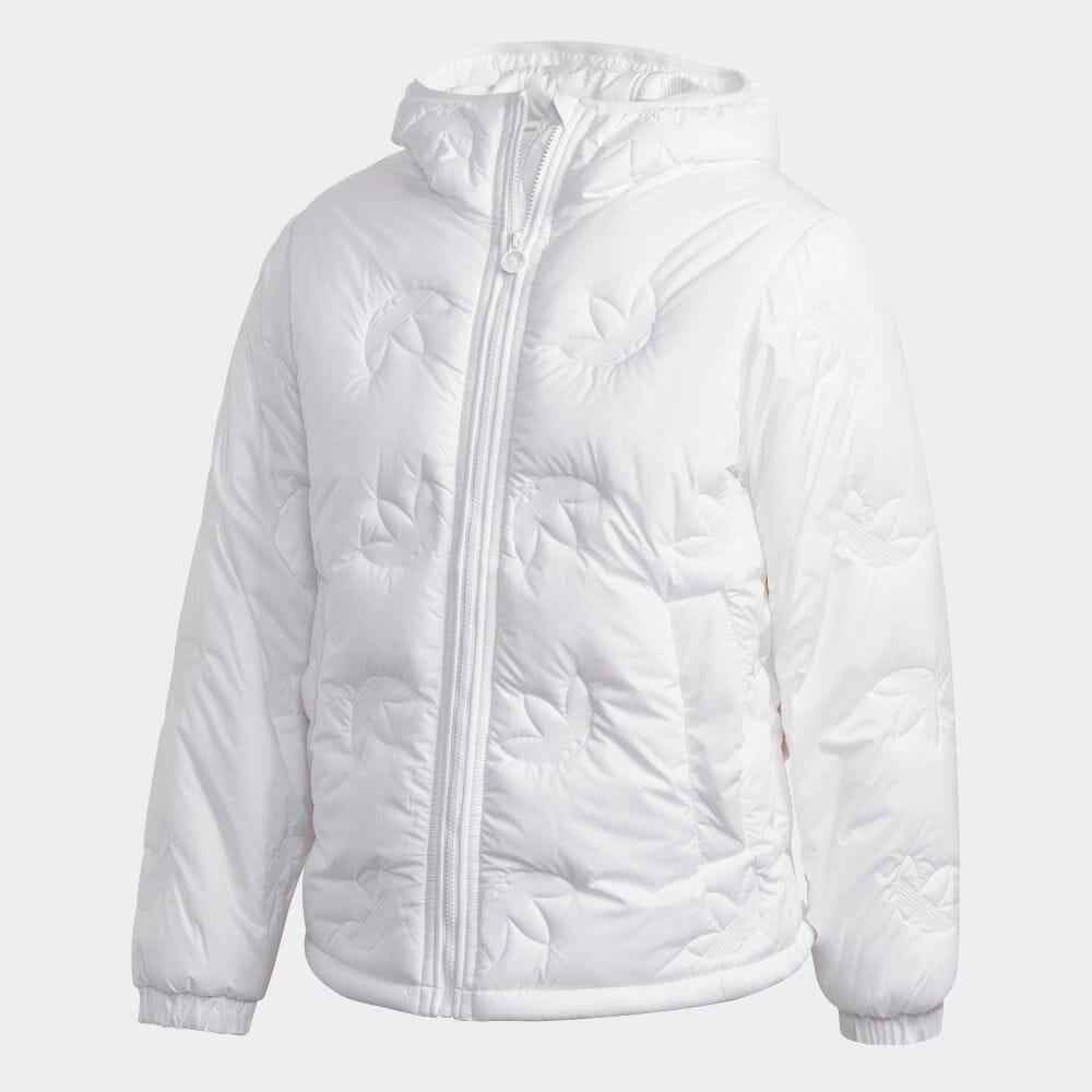 送料無料 公式セール セール価格 公式 アディダス adidas トレフォイル リピート パファー アウター ジャケット オリジナルス ホワイト 人気ブランド 送料0円 ウェア 白 メンズ GE1337