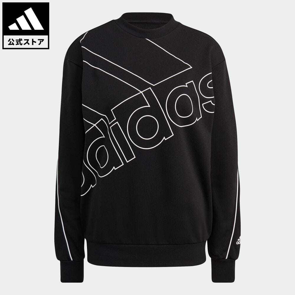 公式セール エッセンシャルズ summersale0806 公式 アディダス adidas 返品可 ジャイアント 本日限定 ロゴ スウェット ジェンダーニュートラル 新作アイテム毎日更新 Giant 服 Sweatshirt ウェア Neutral トレーナー GM5634 Logo Gender 黒 ブラック レディース トップス