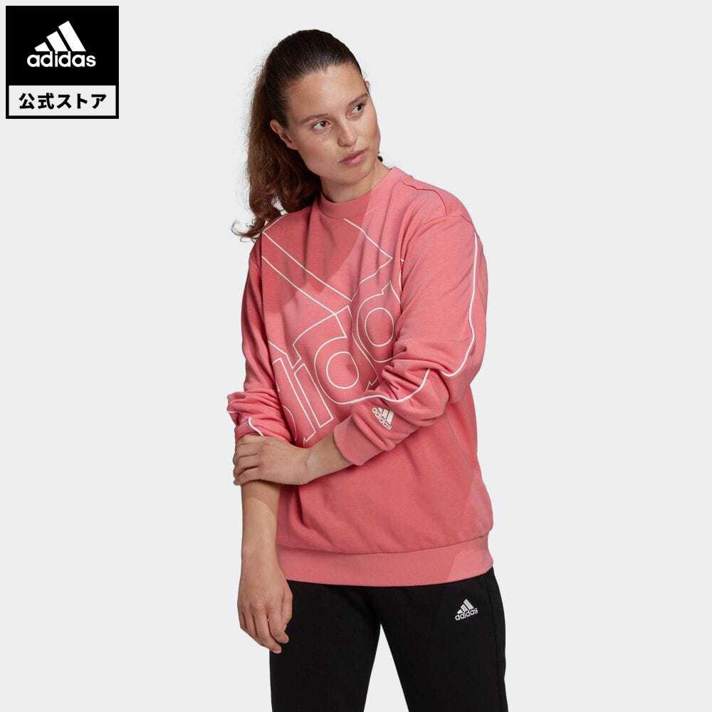 公式セール エッセンシャルズ summersale0806 公式 アディダス adidas 返品可 ジャイアント まとめ買い特価 お中元 ロゴ スウェット ジェンダーニュートラル Giant Logo レディース Sweatshirt 服 Gender GM5635 トレーナー ピンク Neutral トップス ウェア