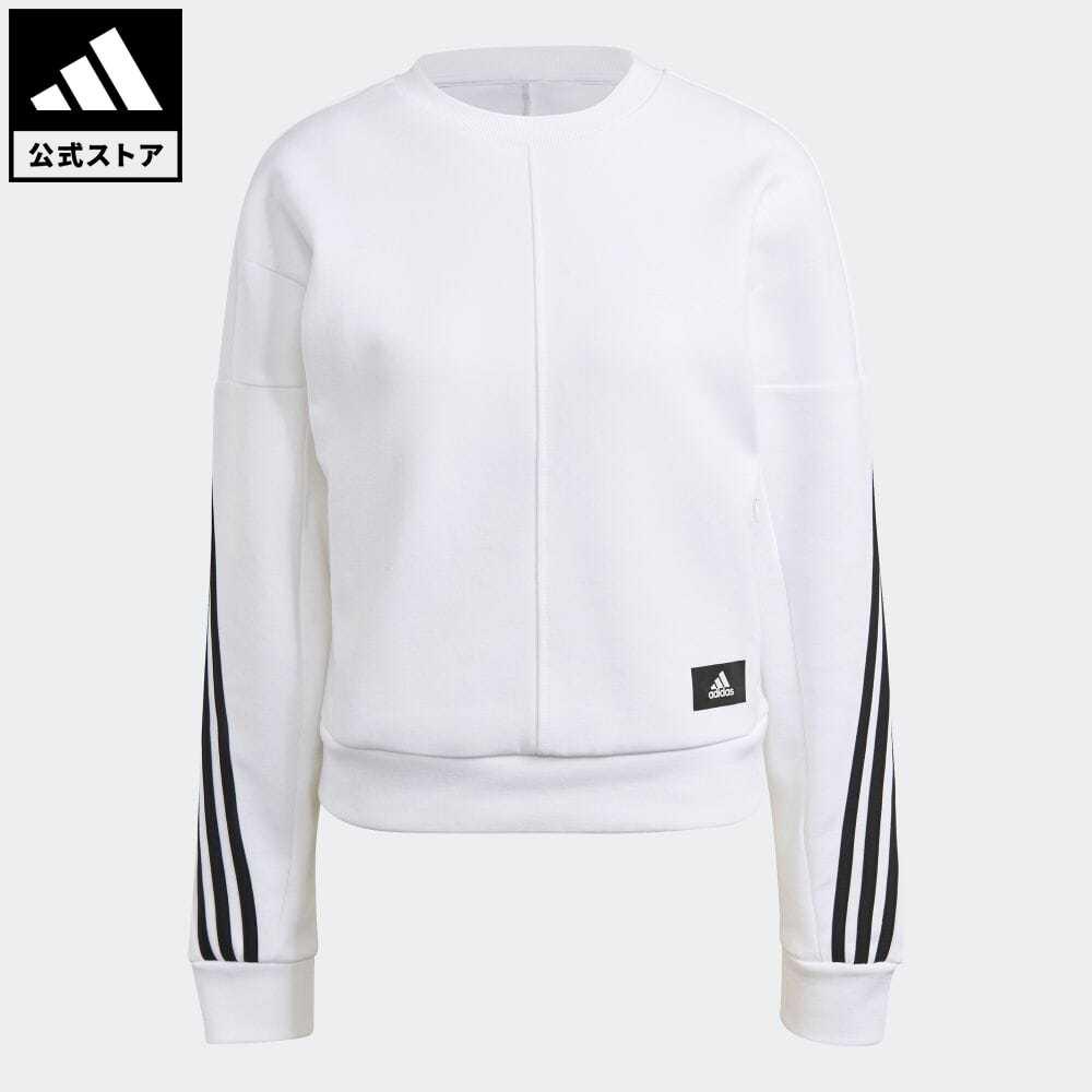 公式セール アイコン 大幅値下げランキング 2020A W新作送料無料 スリー ストライプス summersale0806 公式 アディダス adidas 返品可 スポーツウェア ラップ 3ストライプス スウェットシャツ Sportswear ウェア GJ5446 Wrapped アスレティクス 白 レディース トップス ホワイト トレーナー スウェット Sweatshirt 3-Stripes 服
