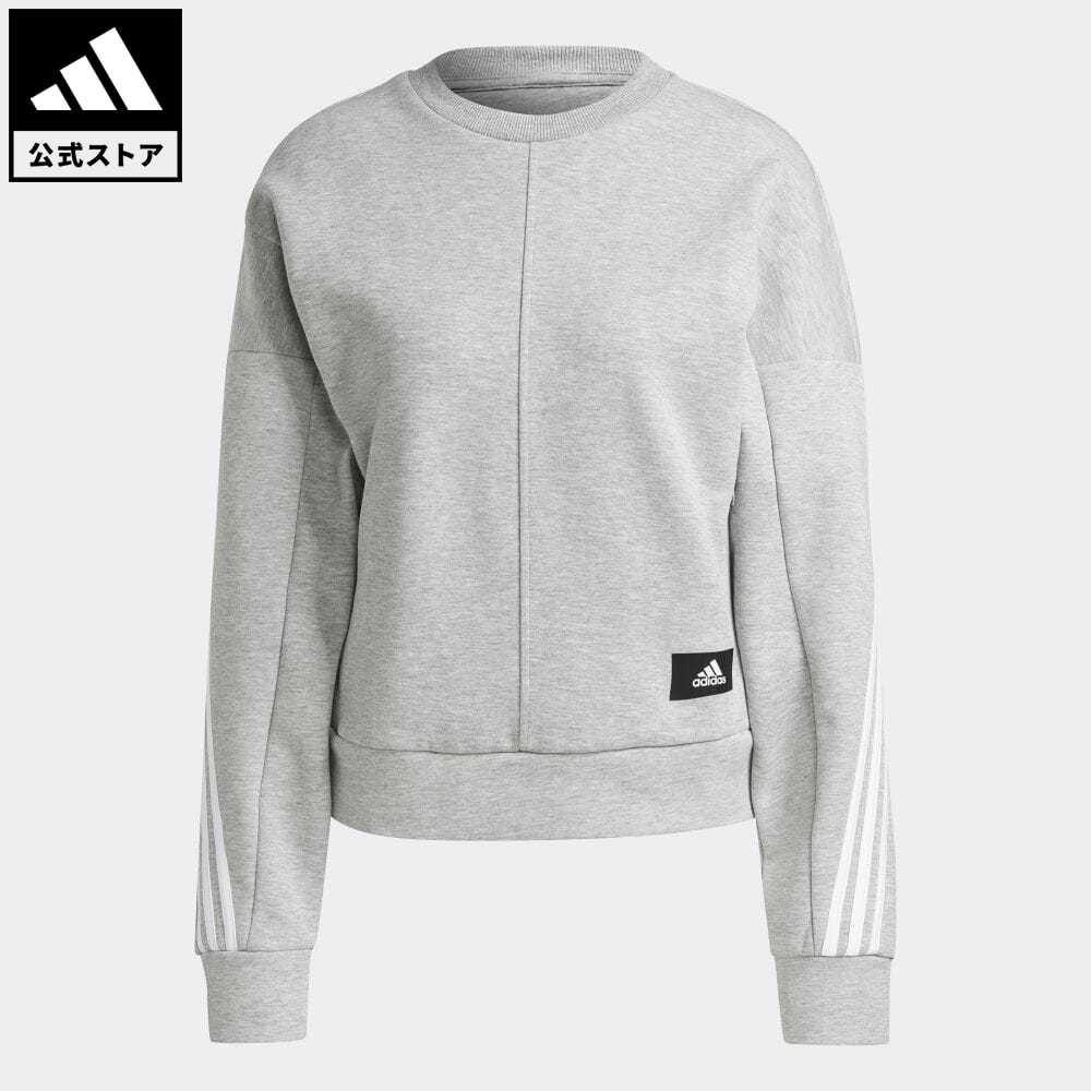 公式セール アイコン スリー ストライプス summersale0806 公式 アディダス adidas 返品可 スポーツウェア ラップ 3ストライプス スウェットシャツ Sportswear トップス 服 グレー ウェア トレーナー Wrapped アスレティクス GJ5447 Sweatshirt スウェット レディース 手数料無料 3-Stripes 交換無料